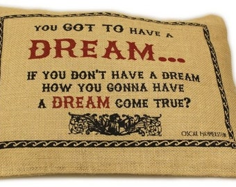 "Jute Pillow Cover 38 x 25 cm ""Dream"""