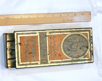 vINTAGE TOBACCO dISPENSER CHEWING TOBACCO tHE gOOD jUDGE rECOMMENDS rIGHT-cUT