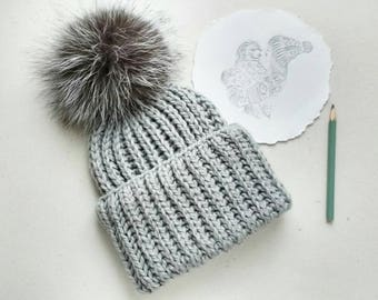 Hat with Pompom