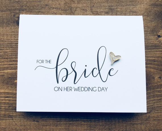 For the bride on her wedding day // golden edged quilled hearts