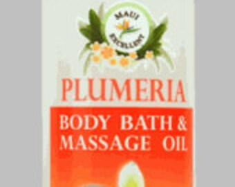 Organic Plumeria Body Bath & Massage Oil