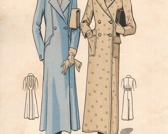 French 1930s Fashion Design Vintage Print