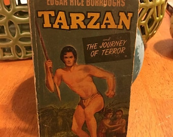 Edgar Rice Burroughs Tarzan And The Journey Of Terror Vintage Antique Paperback Book