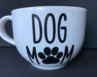 "Large Coffee Mug ""Dog Mom"" or ""Dog Dad"""