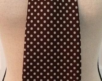Vtg Mr John Cain-S/Loan Co.Tie/ 1970 Brown Polka Dot Tie/Polka Dot Geometric design brown tie/ 1970 tie