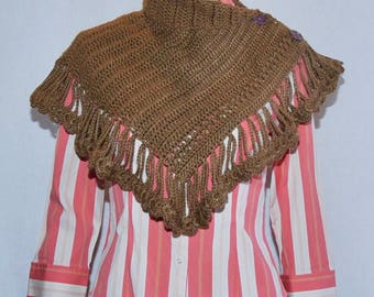 Crochet scarf-Brown Color Winter Scarf for women