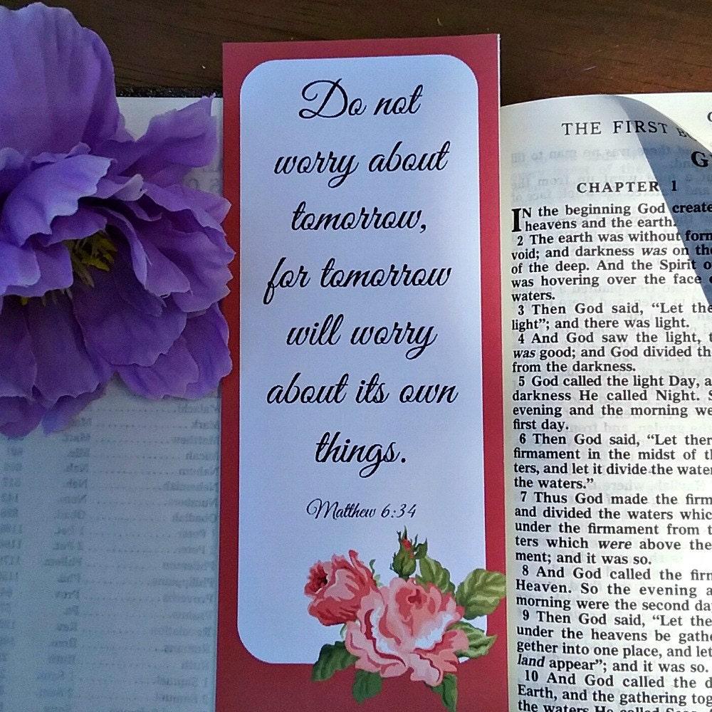 Druckbare Lesezeichen Bibel Vers Zitat Matthew Kapitel 6 DIY