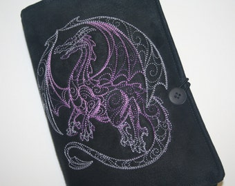 Dragon Embroidered Book Cover