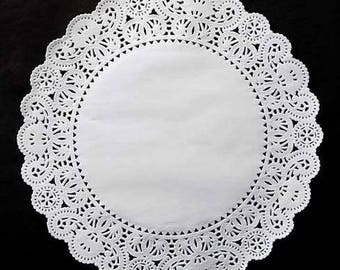 """14"""" WHITE PAPER Doilies Normandy 