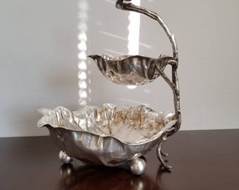 Vintage Two-Tiered Serving Dish