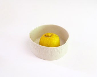 hand built porcelain bowl  ...   low modern bowl