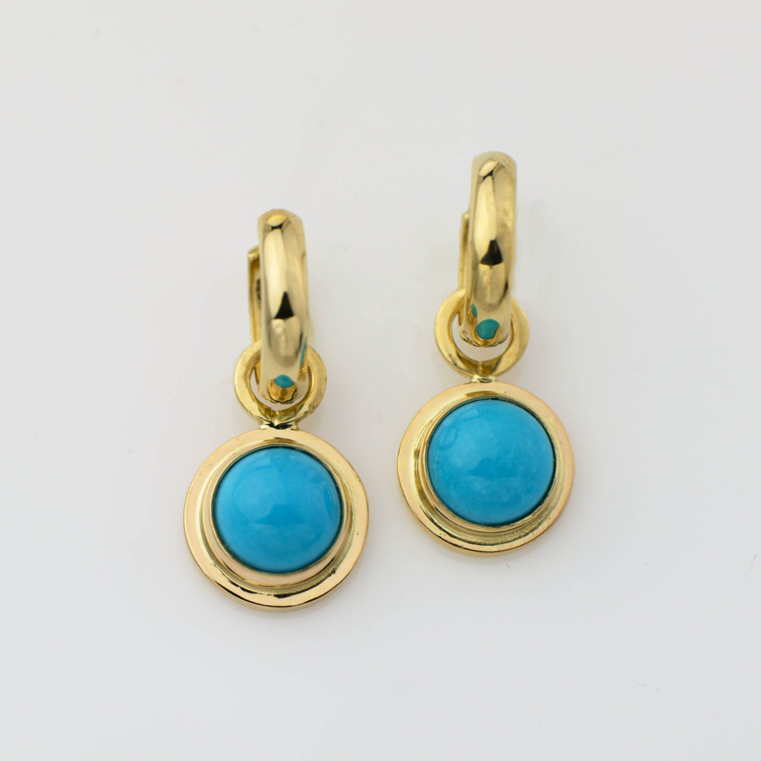 spool stud turquoise products from earrings crescent
