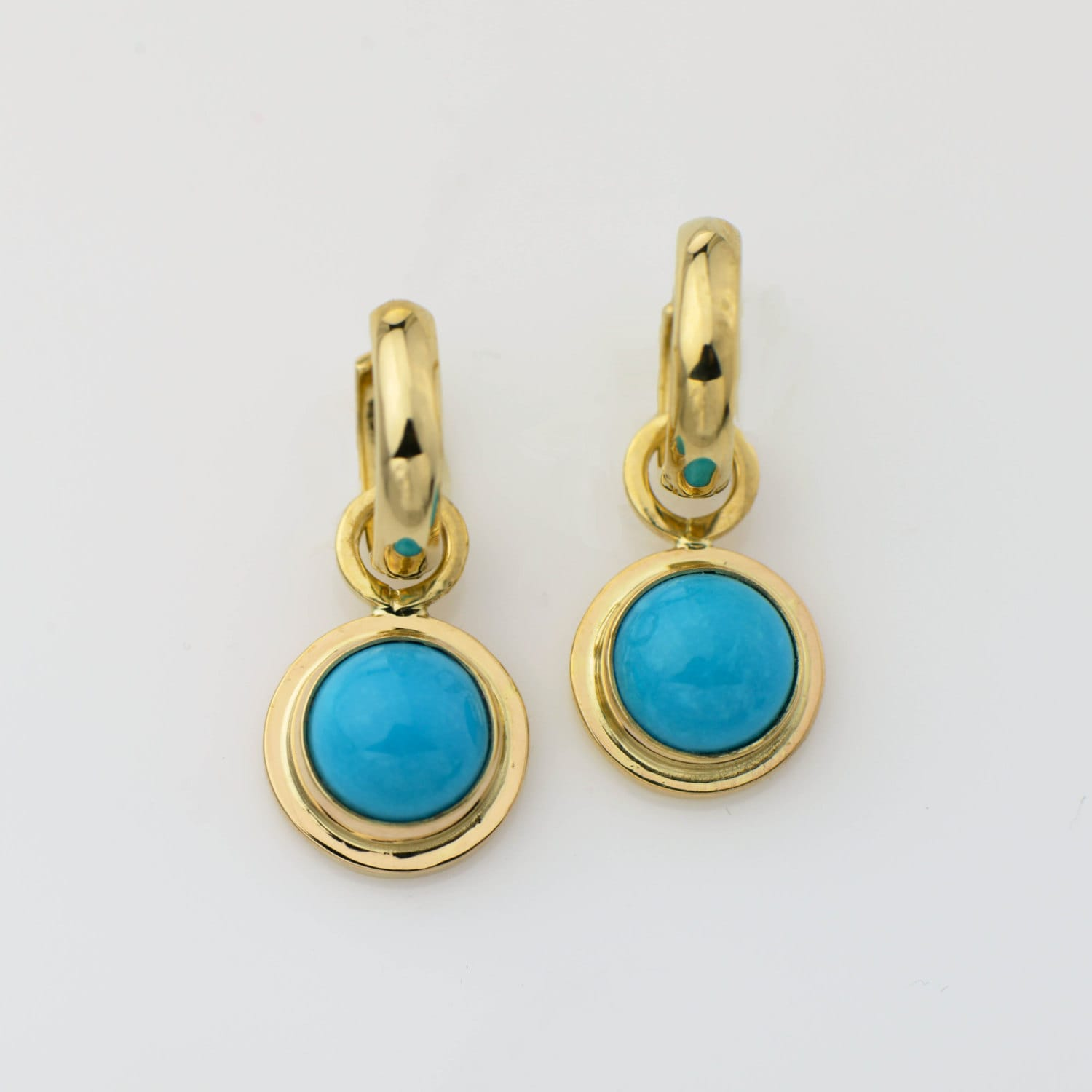 turquoise elongated products and silver sterling hexagon gold earrings img in