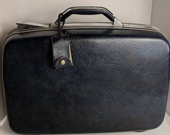Vintage Samsonite Vintage Suitcase Vintage Luggage Vintage Blue Samsonite Blue