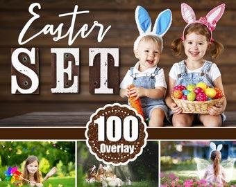 100 Easter overlay Photoshop, light, brunch, flower, chicks, bunnies, wordart, stamp, spring, butterflay, bubble, sun, summer, png