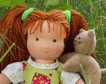 10 inch soft natural textile waldorf doll, little rag doll, small cloth doll, small waldorf doll, eco friendly rag doll, soft fabric doll