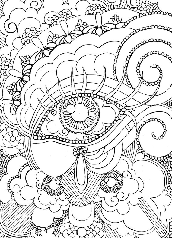 Items Similar To Eye Want To Be Colored Adult Coloring