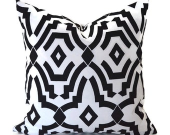 Black Outdoor Pillows ANY SIZE Outdoor Cushions Outdoor Pillow Covers Decorative Pillows Outdoor Cushion Covers Best Pillow OD Chevell Black