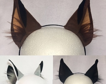 Wolf Ears 3 Colors to choose from wolf ears headband wolf headband dog ears husky ears dog costume ears headband gray wolf black wolf