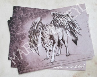 """Postcard """"in the footsteps of the werewolves'"""