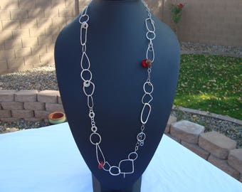 STERLING Silver and BAKELITE necklace