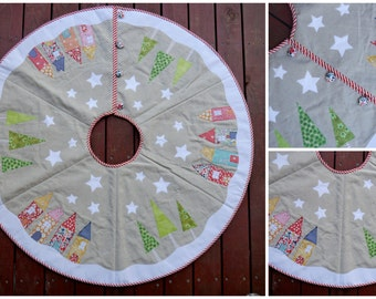 Pattern to make a Yuletide Christmas Tree Skirt - Instant download