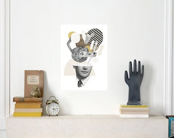 In his mind / Art Print on fine art paper / Poster / Collage