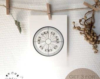 Abstract Ostrich  Postcards / Screenprint Art / Digital Prints / Thank you Cards / Snail Mail / Wallart / Illustration
