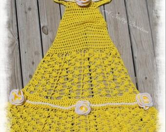 Princess Dress, Princess Blanket, Child Princess, Belle Dress, Belle Blanket, Belle Blanket Dress, Blanket Dress, Dress Blanket, Dress Belle