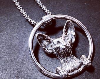 Sphinx cat - silver 925 pendant