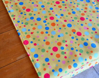 Rainbow Polka Dot Tablecloth or Table Runner / Custom Sizes Available / Fabric /Carnival Party Decorations / Circus Party Decorations