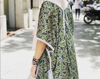 Silk Kimono printed boho, bohemian, ethnic