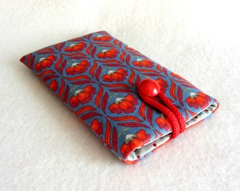 Le tissu des manches téléphone portable, étui de téléphone floral, housse iphone, rembourré i téléphone housse de téléphone case, doux, cadeau pour elle
