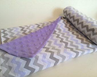 Nap Blanket - Lavender Chevron