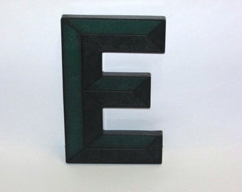 Vintage 1950s Letter E, Movie Theater Marquee Letter, Mid Century Sign, Green Lucite Letter, Urban Industrial Initial, Art Deco Wall Hanging