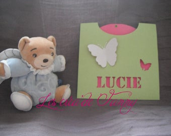 Butterfly christening or birth announcements