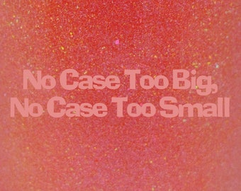 """No Case Too Big, No Case Too Small shimmer holographic nail polish 15 mL (.5 oz) from the """"Disney Afternoon"""" Collection"""