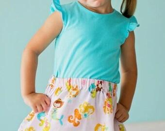 Timeless Treasuresl Mermaid Skirt ( 18 mos, 24 mos, 2T, 3T, 4T, 5, 6, 7)