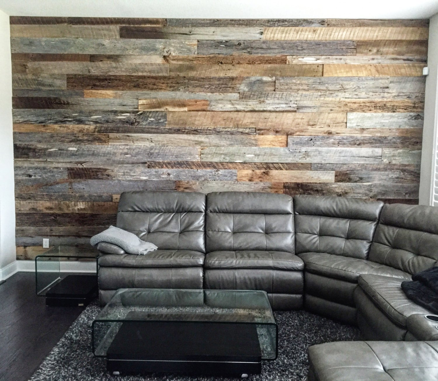 zoom Reclaimed Wood Wall Accent Kits