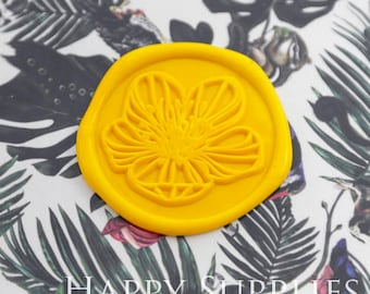 Buy 1 Get 1 Free - 1pcs Floral Flowers Gold Plated Wax Seal Stamp (WS384)
