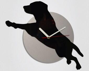 Flying Dog Handmade Modern Wall Clock