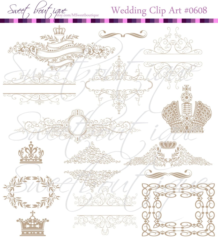 Beige silhouette crowns digital clip art crown frames damask zoom jeuxipadfo Gallery