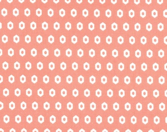 Geometric Cotton Fitted Crib Sheet - Coral Nursery Bedding