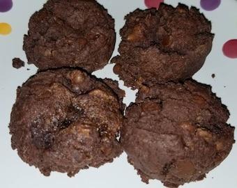 2 dozen Gluten Free soft Triple Chocolate Chip Cookies