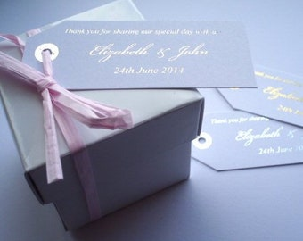 Favour Tags - Wedding Favour Tags - Luggage Tags -  Favour Tags - Gift Tags