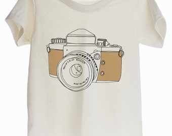 Vintage Camera 70s Organic T-shirt for Kids