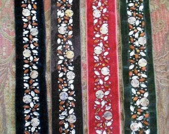 Jeweled Velvet Strips