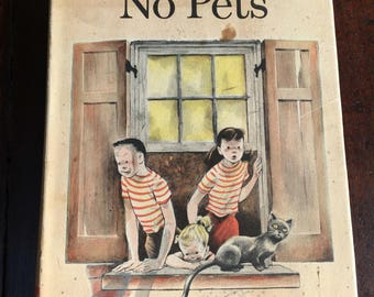 1956 No Children, No Pets FIRST EDITION Book