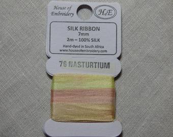 House of Embroidery collar 76 NASTURTIUM 7mm Silk Ribbon