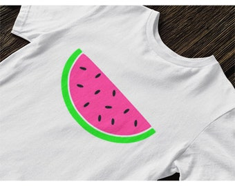 Fluro Watermelon iron on tshirt design
